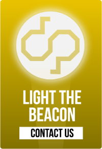 Digitalpaint's light the beacon and contact us button